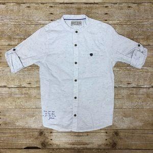 Zara cuffed button down shirt